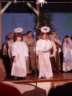 Angels singing and telling the good news!