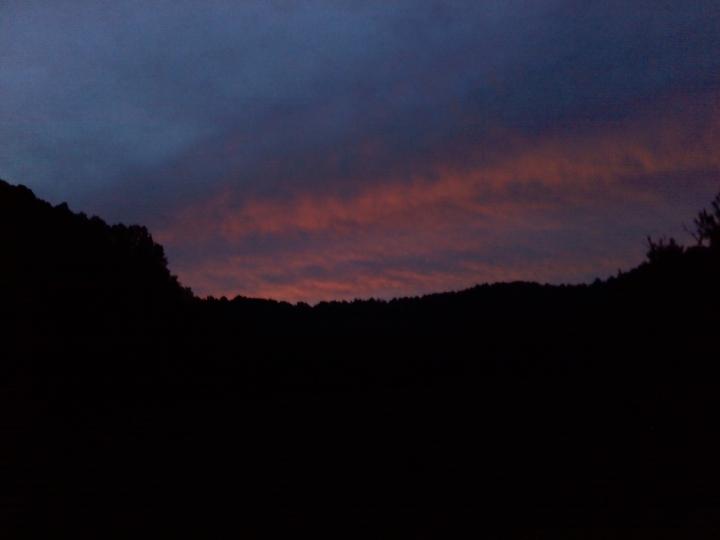 western skies at dusk