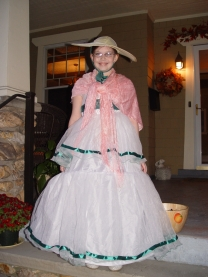 "Our Southern Belle, complete with a curtsy and a southern drawl, ""Why Happy Halloween to you too sugah!"""