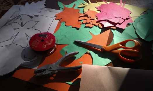 Materials for Thanksgiving Tree