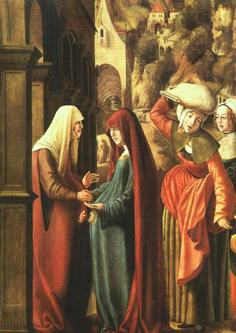 MarxReichlich, Austrian 1460-1520 Meeting of Mary & Elizabeth