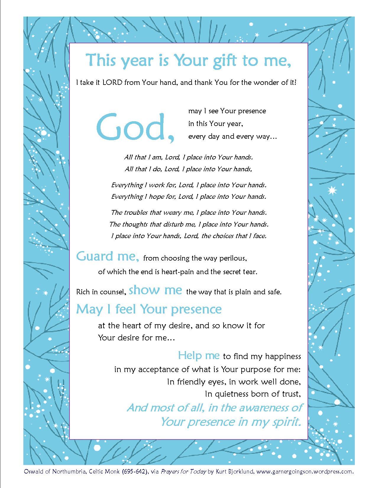 New Years Prayer – Garner Goings On