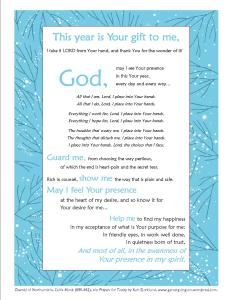 Free Printable of a beautiful prayer by Oswald of Northumbria, great for New Year!