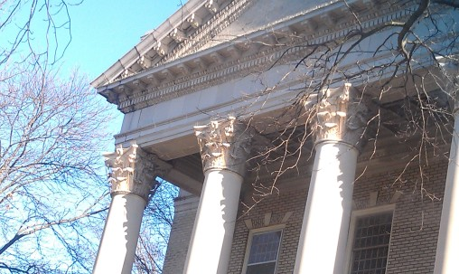 Detail of Corinthian Columns at Ghent UMC
