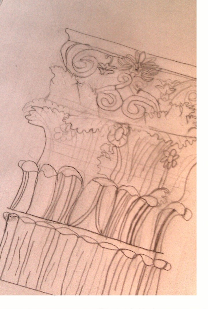 Sketch of Corinthian Column