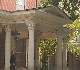 Fluted Corinthian columns and a pediment!