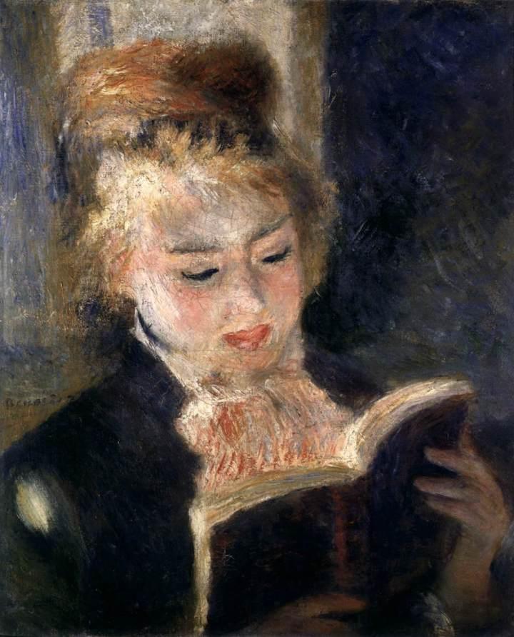 A Woman Reading,     Pierre Auguste Renoir