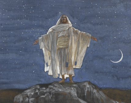 James Tissot (1836-1902) Jesus Goes Up On A Mountain to Pray The Ascension