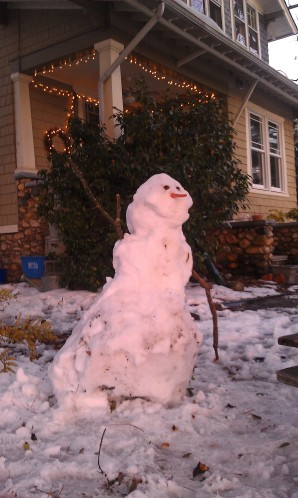 Snowman #1 is waving to...