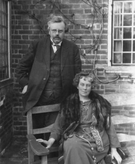 G.K. Chesterton & his wife Frances