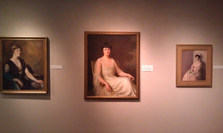 Portraits from the Boston School, Center portrait Lady with Fan by William Worcester Churchill