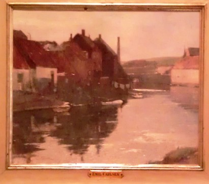 The Canal c 1910-1920, Emile Carlson studied in Europe before settling in Connecticut