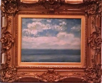 On Long Island Sound 1912, Henry Ward Ranger painted with the Old Lyme Colony