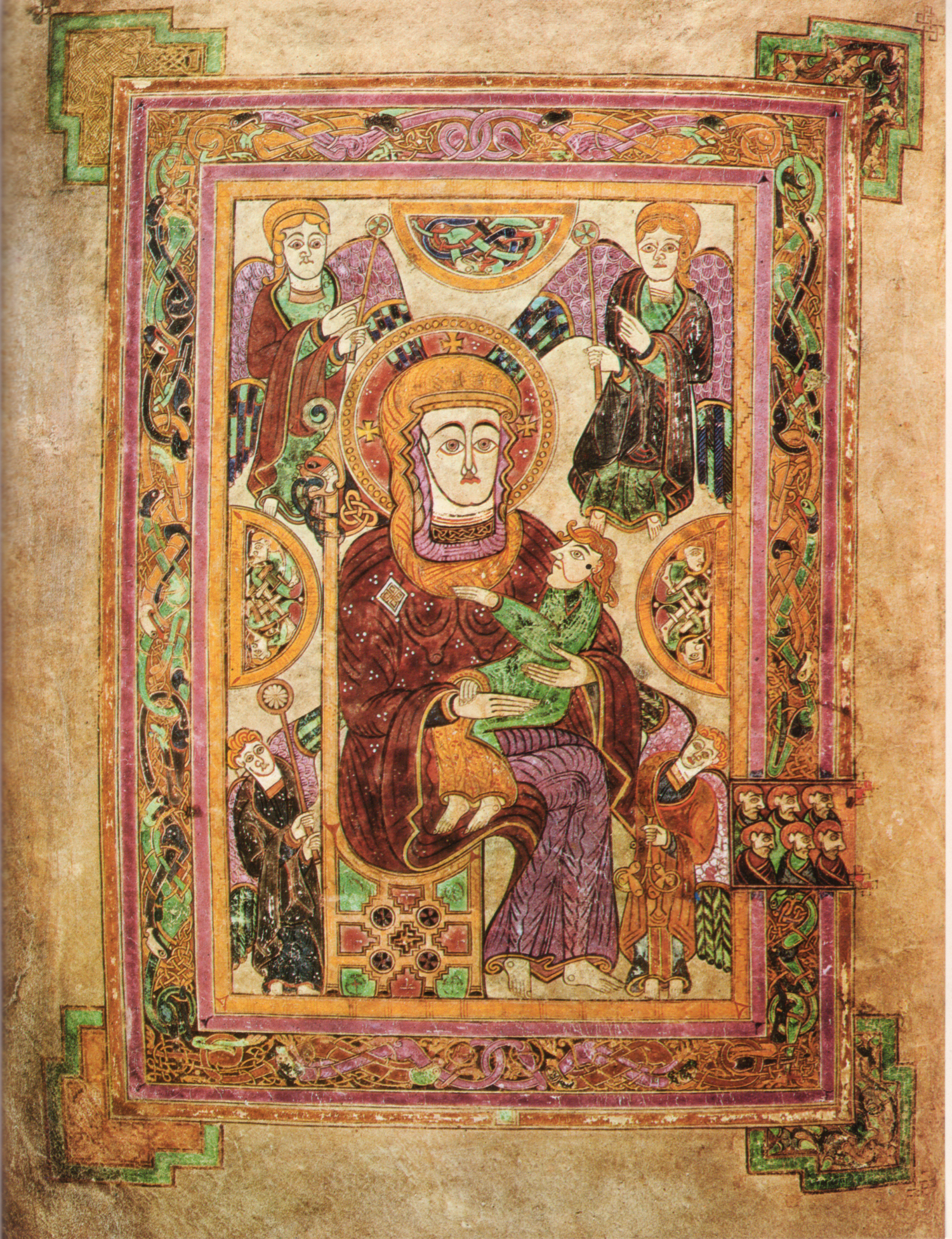 Madonna & Child Book of Kells Oldest extant image of the Virgin Mary in Western manuscript.