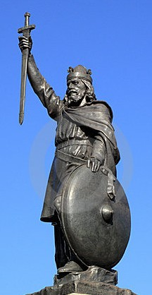 King Alfred the Great  Statue in Winchester, England