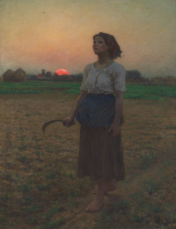 The Song of the Lark  Jules Breton c1884 Art Institute of Chicago