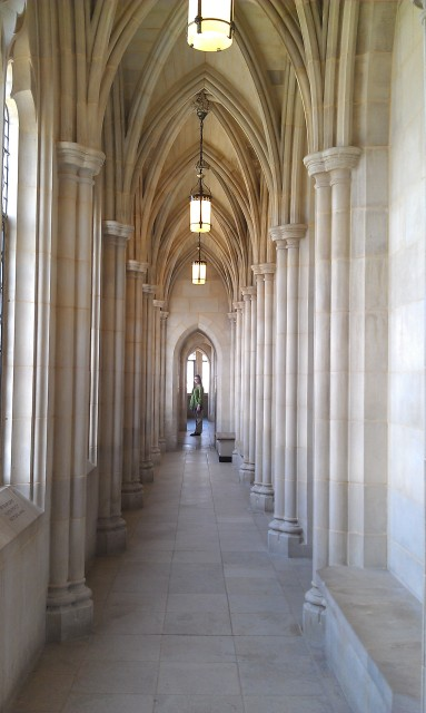 National Cathedral Pilgrim Observation Gallery hallway