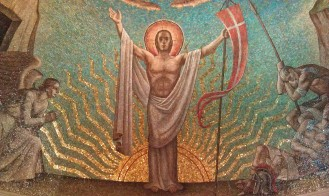 The Risen Christ, Resurrection Chapel, Crypt Level, National Cathedral downstairs