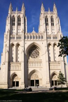 West Facade, or front of the Washington National Cathedral (photo courtesy A View On Cities dot com)