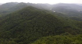 The Son took this picture of Cumberland Gap on the way to Tennessee.