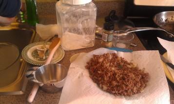 Yum! The beginnings of Meat Dumplings...