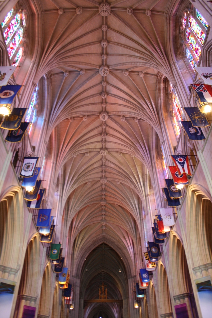 Courtesy of the Cathedral.  This is the ceiling without the black netting.  Huge difference!