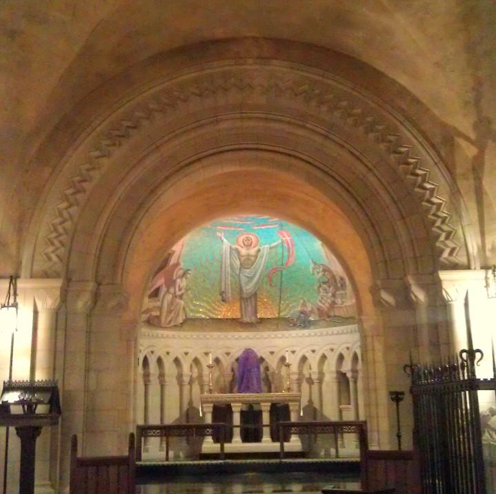 Romanesque arches, Byzantine Mosaics