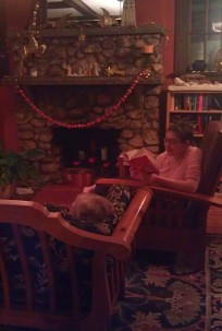 Reading to Grandma Midge