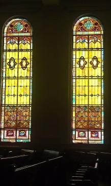 Windows at Zion Baptist Church in Portsmouth, VA.