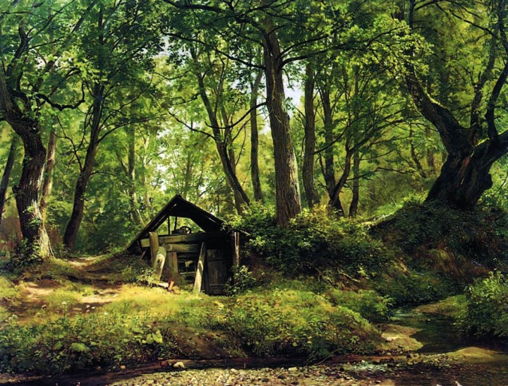 "A Sunny Day Merikyul by  Ivan Shishkin c 1894. Shishkin is the ""singer of the forest"" in Russian landscape painting of the 19th century."