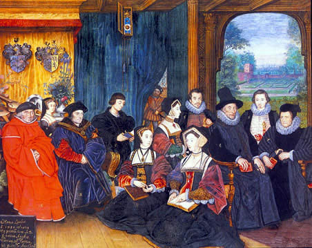 Sir Thomas More and his family by goldsmith and miniaturist Rowland Lockey