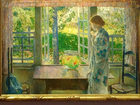 The Goldfish Window, Frederick Childe Hassam c.