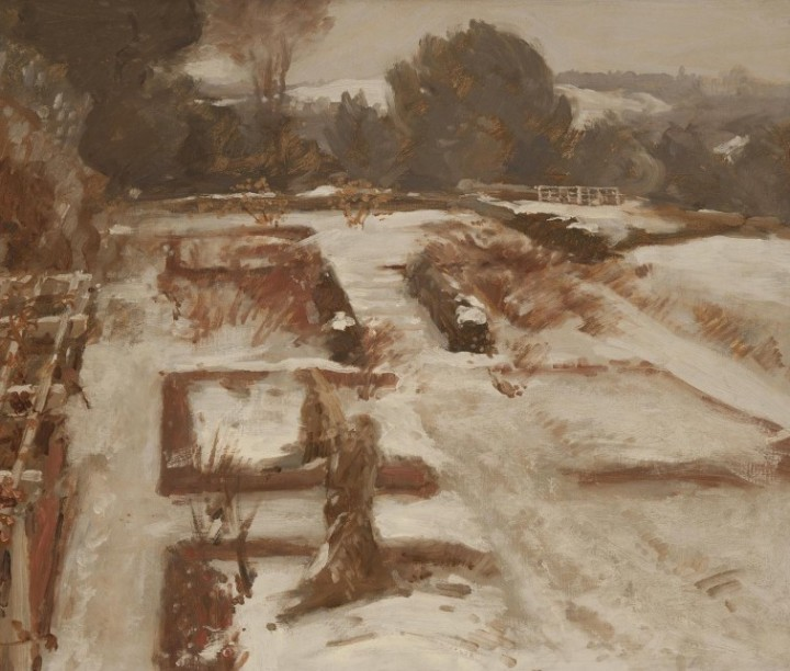 Garden in Winter, c 1904, Charles Adams Platt