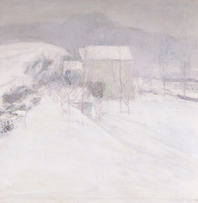 Snow, c 1895-6, John H. Twachtman (American Impressionist)