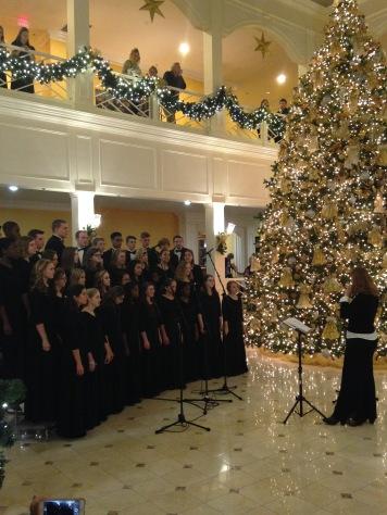 Singing at Founder's Inn
