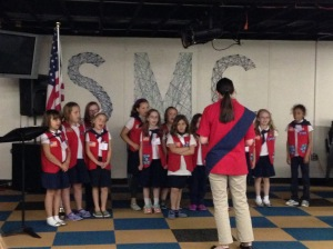The Daughter & the Tenderheart Choir singing America the Beautiful