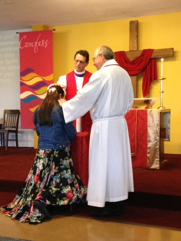 Bishop Steve, The Daughter, & Father Brian