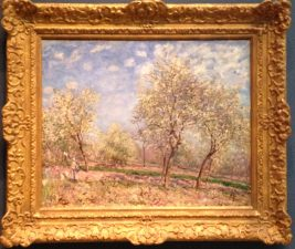 """Apple Trees in Flower"" Alfred Sisley, French c.1880,"