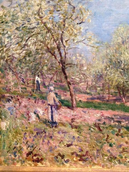"""Apple Trees in Flower"" detail"
