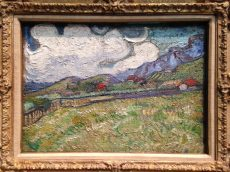 """Wheat Field behind St. Pauls Hospital"" Vincent Willem van Gogh, loan from VMFA"