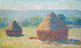 """Haystacks, Late Summer,"" Claude Monet, c1891, Oil on Canvas, on loan from Musee d Orsay, Paris"