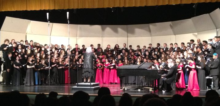District Chorus 2017 - The Daughter is on far right behind a few people...